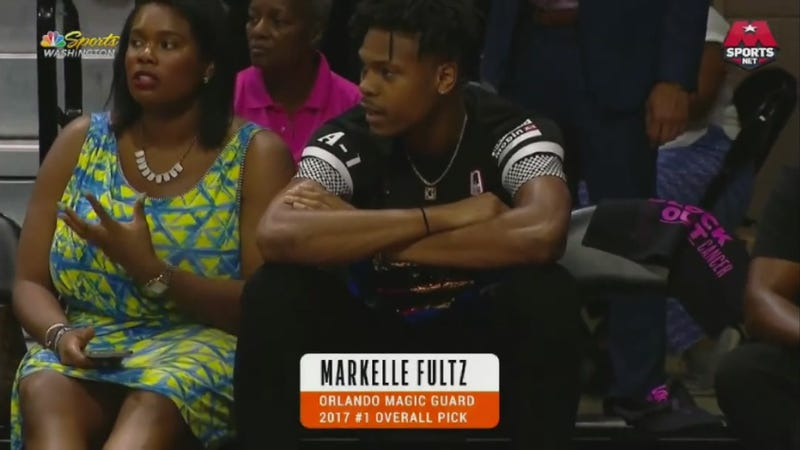 Illustration for article titled That Is Not Markelle Fultz Or His Mom