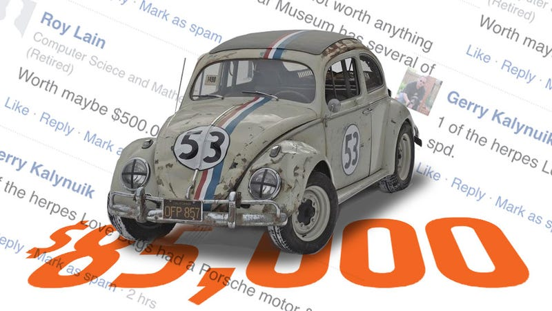 Illustration for article titled Selling The Oldest Surviving Herbie Beetle Was A Massive Reminder That People Suck