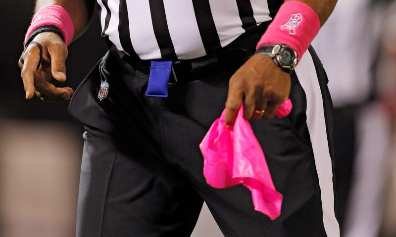 Illustration for article titled NFL Getting Rid Of Pink Penalty Flags