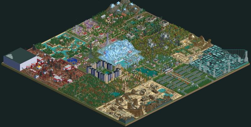 Illustration for article titled Un jugador se pasa una década construyendo un parque de atracciones en RollerCoaster Tycoon 2