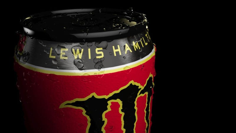 Illustration for article titled Looks like Monster is going to make a Lewis Hamilton flavored drink