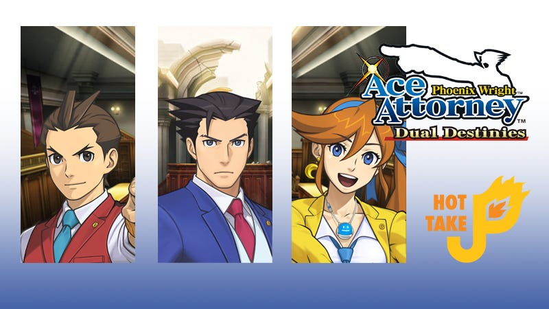 Illustration for article titled Hot Take: Phoenix Wright: Ace Attorney - Dual Destinies (Nintendo eShop)