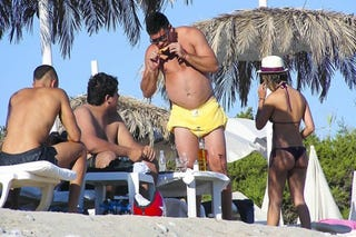 Illustration for article titled Fat Ronaldo Goes To Ibiza