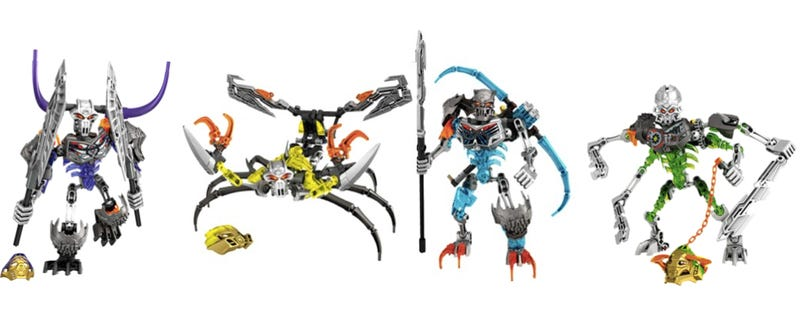 Illustration for article titled Review: New LEGO Bionicle Sets Are Here to Slice and Bash Skulls
