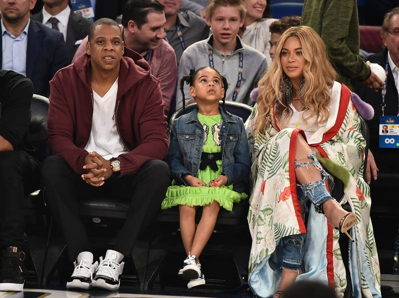 Jay-Z, Blue Ivy and Beyoncé (Theo Wargo/Getty Images)