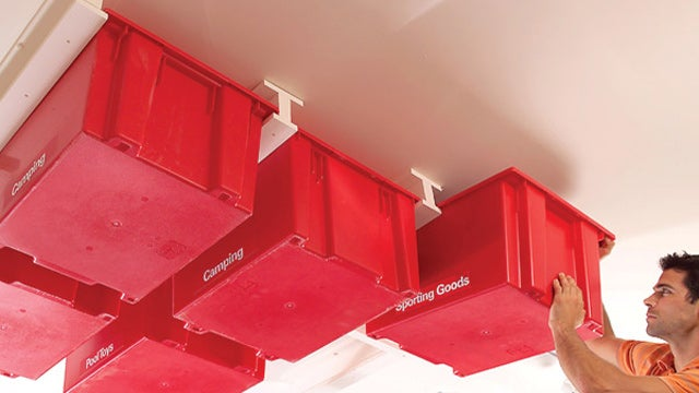 Diy Garage Ceiling Storage System