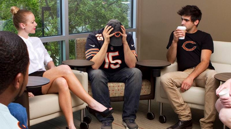 Illustration for article titled NFL Opens Counseling Center To Help Bears Fans Cope With Devastating Blowouts