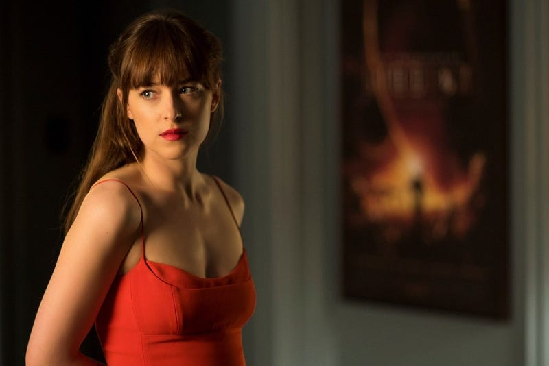 In Fifty Shades Darker, Dakota Johnson dates a man who has that poster on his wall. Image: Universal
