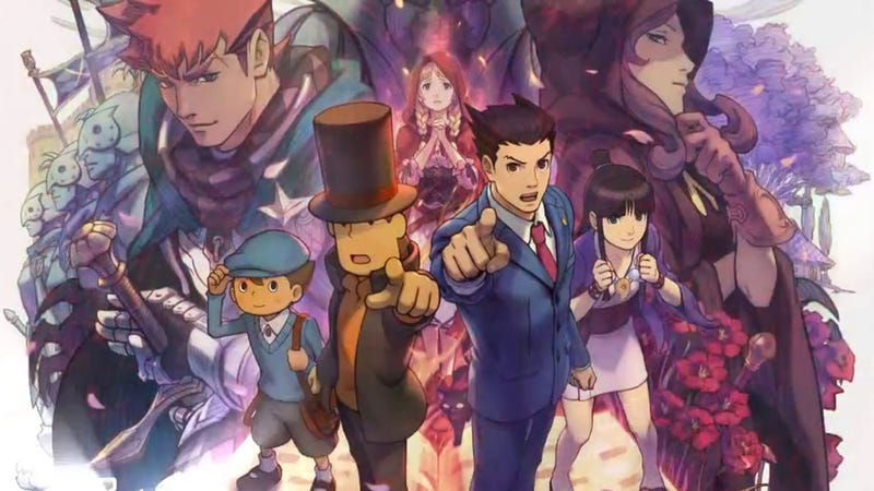 Illustration for article titled Professor Layton vs. Ace Attorney is Pretty Much a Perfect Crossover Game