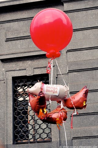 Illustration for article titled Italians Protest Berlusconi With Panties And Bunga Bunga Balloons