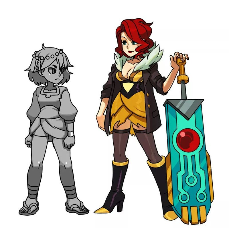 Illustration for article titled Transistor's Red Will Be A Crossover Character In Indivisible!