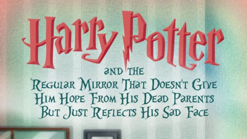 Illustration for article titled Someone made covers for more stories about Harry Potter's sad future