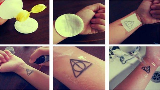 Diy temporary tattoos for Temporary tattoo tracing paper