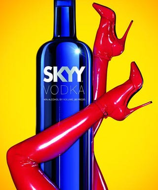 Illustration for article titled Skyy Continues The Vodka=Penis Ad Campaign