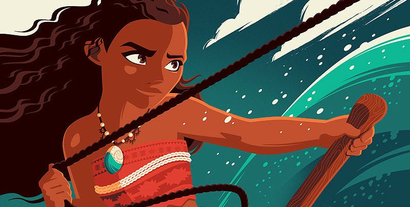 Illustration for article titled You're Welcome to Covet This Gorgeous Poster for Disney's Moana (UPDATED)