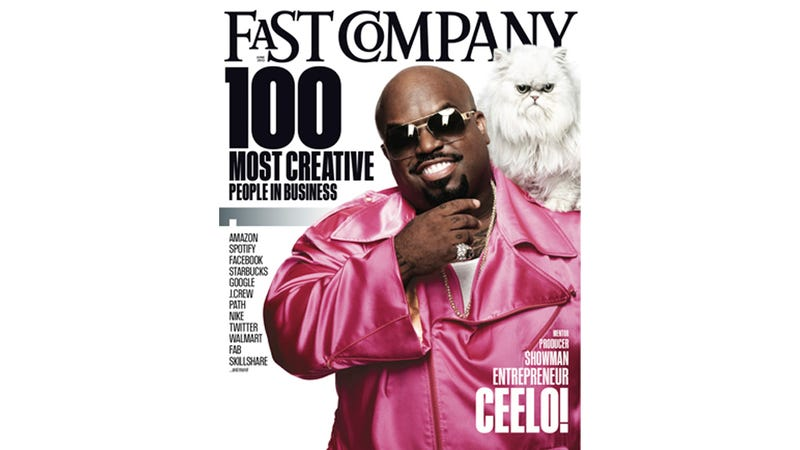 Illustration for article titled Of Course Cee-Lo's Cat Is on the Cover of Fast Company