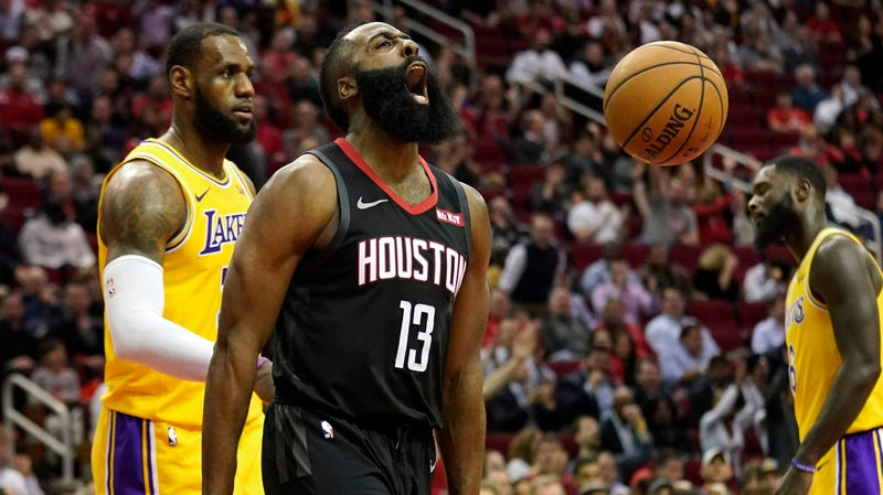 Illustration for article titled James Harden Irritated The Lakers Into A 50-Point Triple-Double