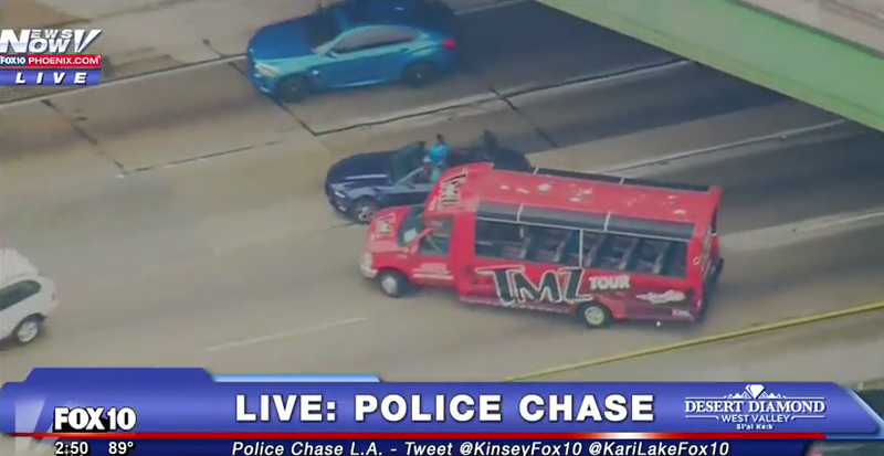 Watch Live As Cops Chase Down A Ford Mustang Through The Streets Of
