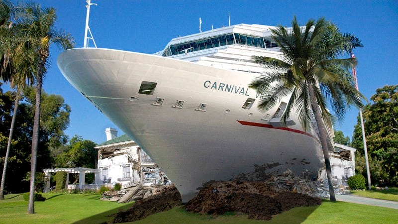 A Carnival Cruise at George Clooney's house.
