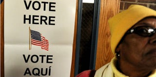 A voter in Virginia (Patrick Smith/Getty Images News)