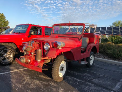 Not technically a truck, but who can resist a Jeep fire engine?