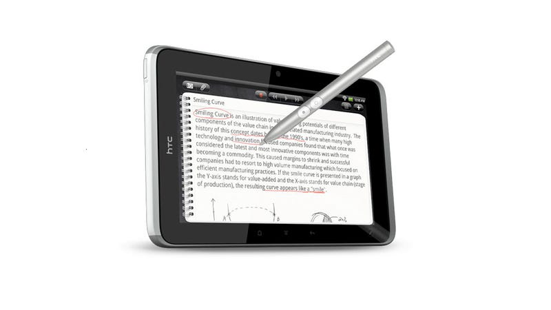 Illustration for article titled I Can't Stop Laughing Because HTC Is Charging $80 for Its Tablet Stylus