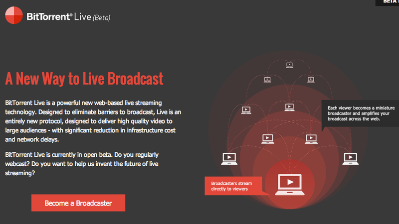 Illustration for article titled BitTorrent's P2P Streaming Takes the Lag Out of Live Video
