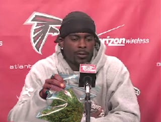 Illustration for article titled Michael Vick: 'That Wasn't Marijuana, This Is Marijuana'