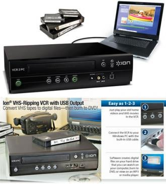 Illustration for article titled Ion Audio's VCR2PC USB VHS Ripper Digitizes Your Old Saved By the Bell Episodes