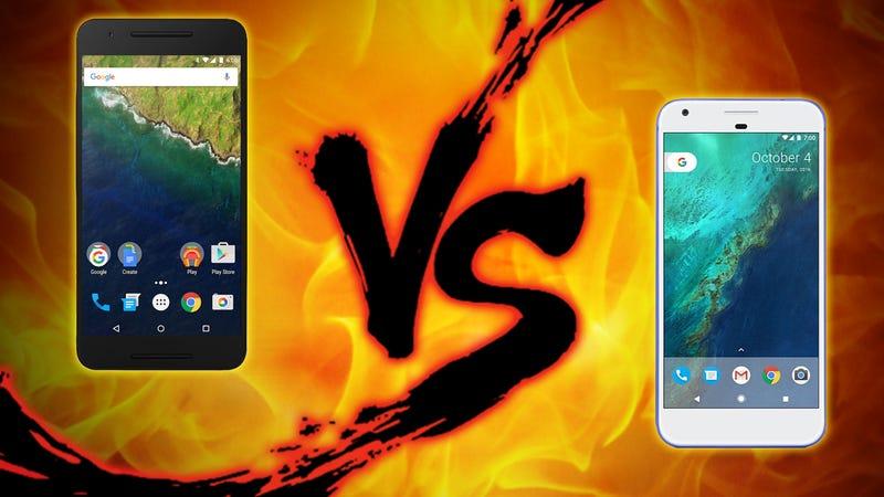 Illustration for article titled Google Phone Showdown: Nexus 6P vs. Pixel XL