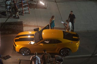 Illustration for article titled Bumblebee, Shia LaBeouf Spotted Cheating on Megan Fox on Transformers 2 Set