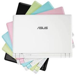 Illustration for article titled Asus Eee Laptop Gets a Handful of New Color Options