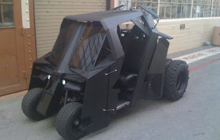 Illustration for article titled Who's foolish enough to not bid on a Batman Tumbler golf cart?