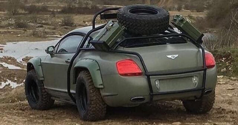 The off-road Bentley circulating the internet at the moment. Via r/BattleCars