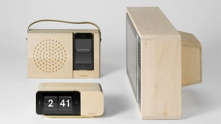 Illustration for article titled I'd Consider Buying an iPhone or iPad Just to House Them in These Gorgeous Alarm Clocks