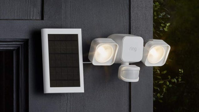 Add a Solar-Powered Ring Floodlight to Your Home for $72