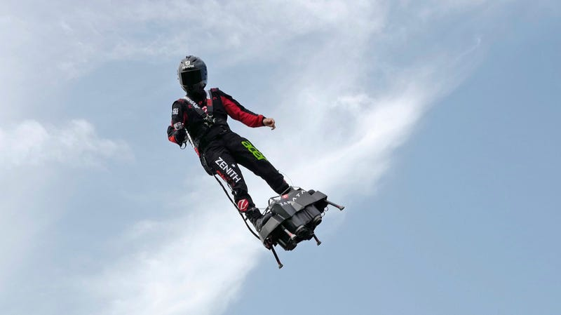 French Inventor Hoverboards Across the English Channel, Manages Not to Crash This Time