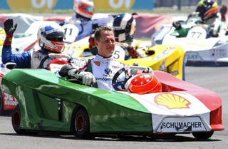 Illustration for article titled Michael Schumacher: Manliest Of Men