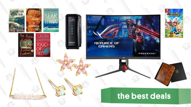 Sunday s Best Deals: Arris Modem, Kindle Bestsellers, Jewelry, and More