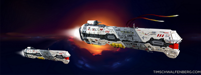 Illustration for article titled Homeworld's Giant Battlecruiser, Remade With LEGO