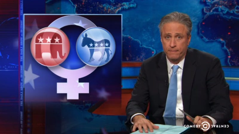 Illustration for article titled The Daily Show Tackles The GOP's Inept Wooing of 'The Lady Vote'