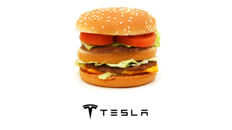 Illustration for article titled How Many Big Macs Does It Take To Power A Tesla Model S?