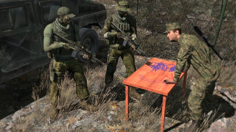 Illustration for article titled A Six-Year Old is Modding Arma II, and He Made This Table