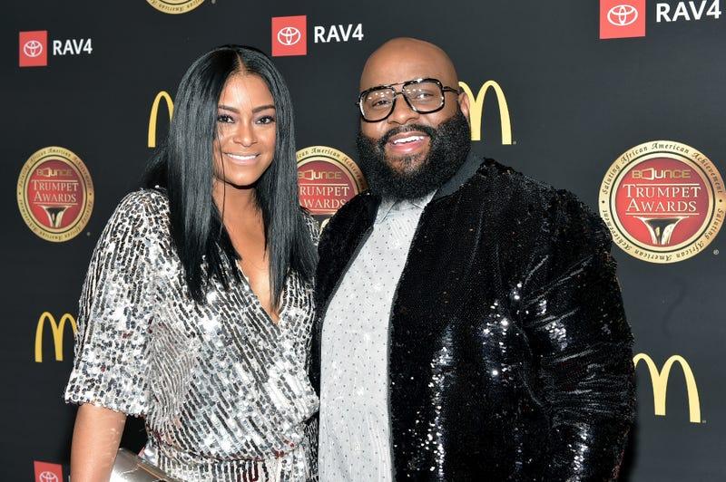 April Daniels and LaShawn Daniels attend the 2019 Bounce Trumpet Awards on January 19, 2019 in Atlanta, Georgia.