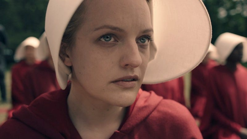 Elisabeth Moss as Offred. All images: Hulu