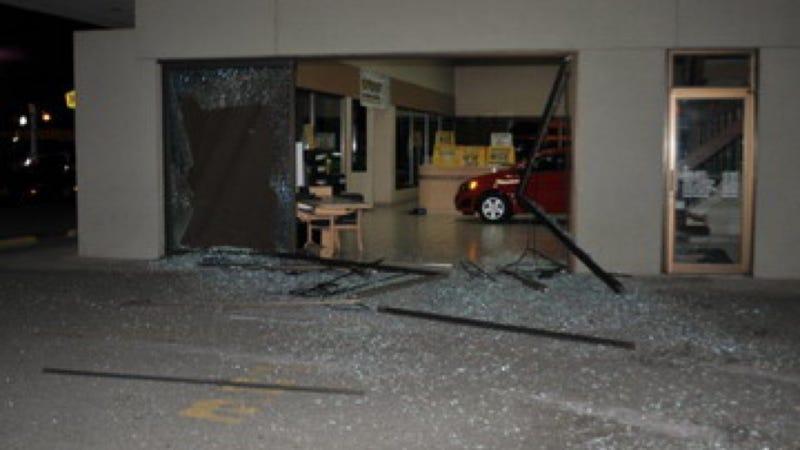 corvette stolen through dealership window