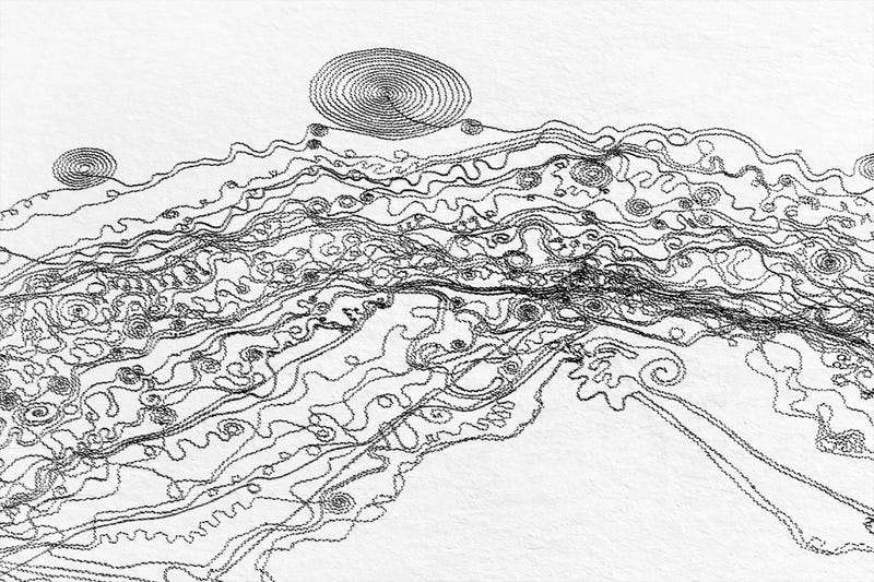 Illustration for article titled This Massive Snow Art Is a Tribute to the River That Used to Flow Here