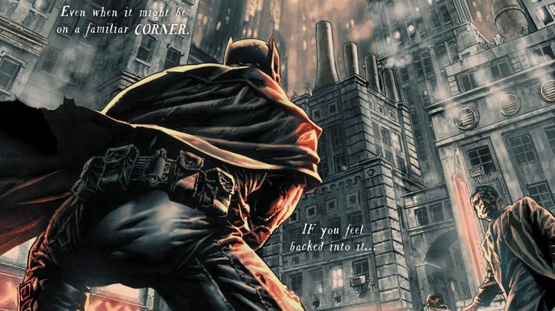 Batman taking in Gotham City.