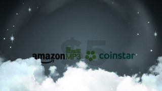 Illustration for article titled Get $5 Worth of Free Amazon MP3s When You Pour $20 Into Coinstar