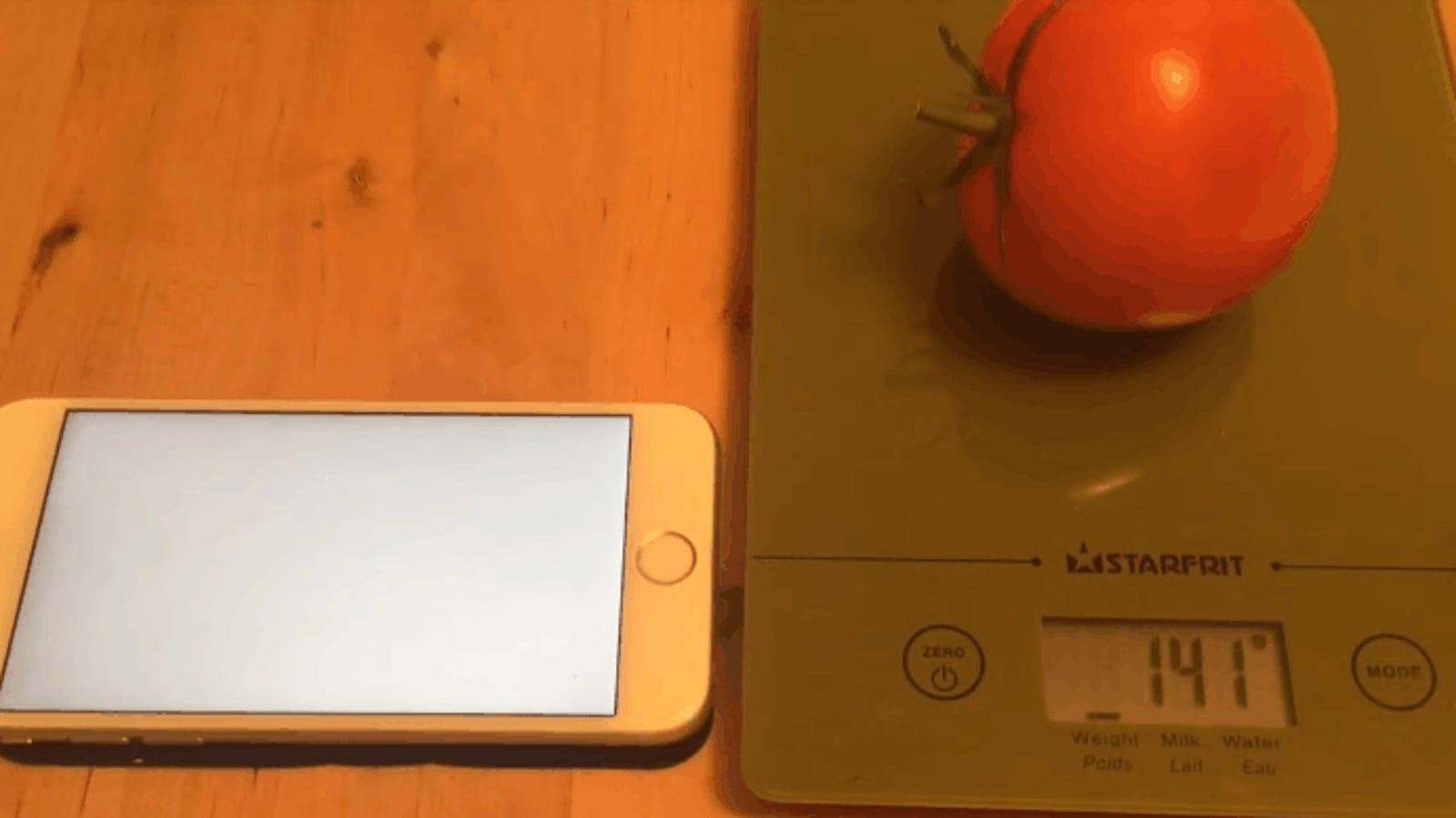 La tecnología 3D Touch del iPhone es tan precisa que incluso puede pesar algunas frutas